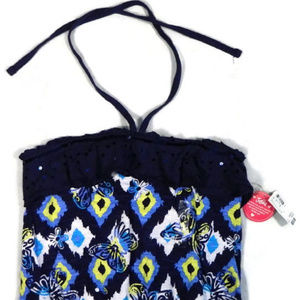 Justice Blue Print Top. NWT.  12